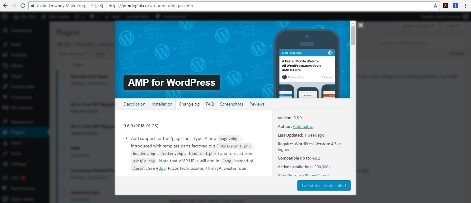 AMP for WordPress Plugin Changelog