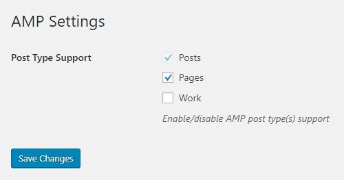 AMP for WordPress General Settings