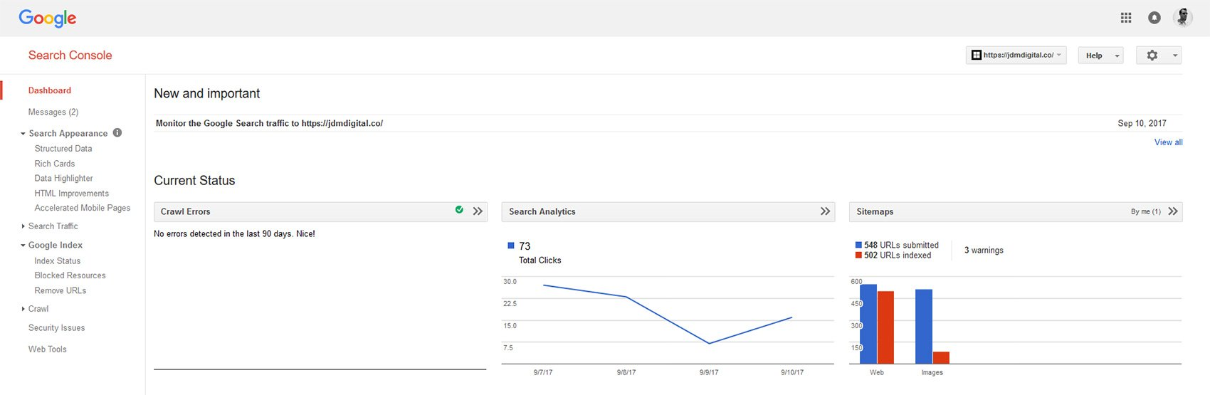 what is the google search console jdm digital